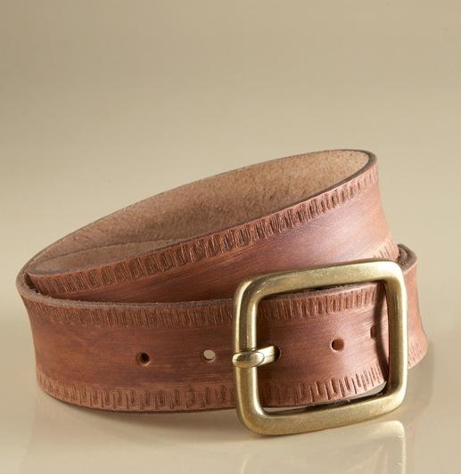 Notched Leather Belt