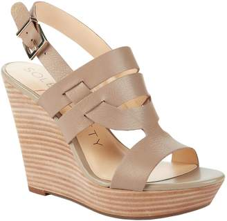 Sole Society Platform Wedge Sandals - Jenny