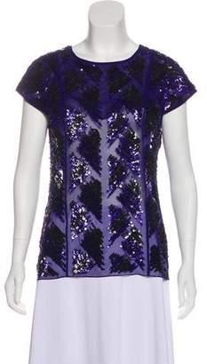 J. Mendel Silk Embellished Blouse