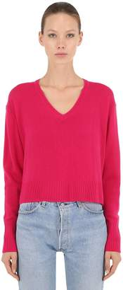 RE/DONE Re Done Wool & Cashmere Blend Cropped Sweater