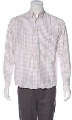 Canali Woven Button-Up Shirt