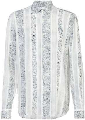 Saint Laurent Yves-neck bandana print shirt