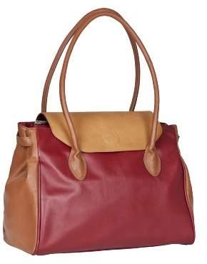 Lassig Tender Boston Diaper Bag Stylish Shoulder Bag Mom's Bag Tote-Bag Handbag Organized Changing Bag Set from Mommy Daddy Matching Bottle Holder, Baby Changing Mat/Pad and Stroller Hooks, Changing Bag, Red