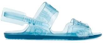 Off-White transparent logo sandals
