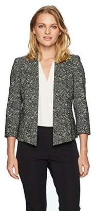 Kasper Women's Petite Woven Jacket with Shawl Collar