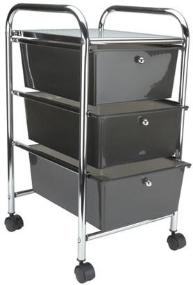 "Advantus Storage Studios Home Center Rolling Cart W/3 Drawers-15.25""X26""X13"" Smoke"