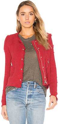 IRO Agnette Jacket in Red $581 thestylecure.com