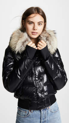 SAM. Skyler Short Down Jacket with Fur