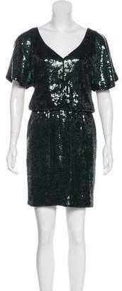 Trina Turk Sequined Mini Dress