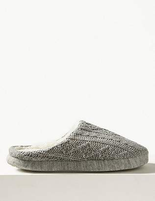 Marks and Spencer Cable Knit Mule Slippers