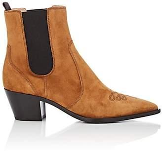 Gianvito Rossi Women's Austin Suede Chelsea Boots - Beige, Tan