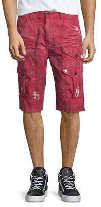 PRPS Dirty-Effect Cargo Shorts $215 thestylecure.com