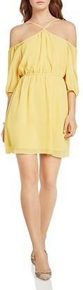 BCBGeneration Cold-Shoulder Blouson Dress $78 thestylecure.com