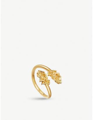 Missoma Ltd Geo Bismuth Telus 18ct gold-plated ring