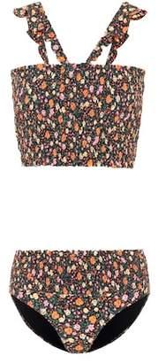Ganni Ipanema floral-printed bikini