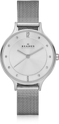 Skagen Anita Silvertone Stainless Steel Women's Watch w/Mesh Bracelet Band $138 thestylecure.com