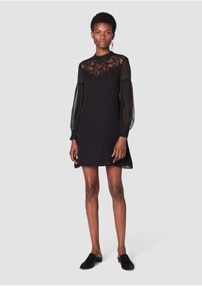 Derek Lam 10 Crosby Bell Sleeve Lace Yoke Dress