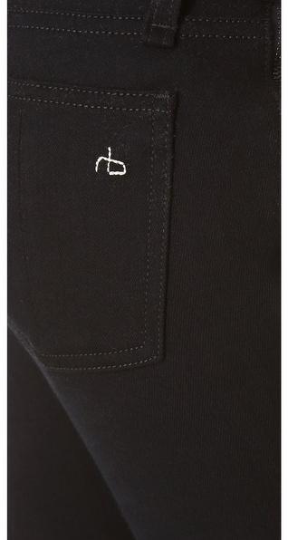 Rag and Bone The Zipper Tuxedo Skinny Jeans