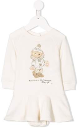 Ralph Lauren Kids polo bear print dress