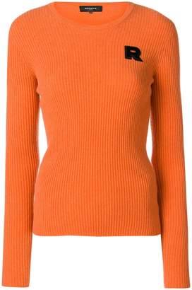 Rochas ribbed knit logo sweater