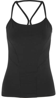 Bodyism - I Am Starry Perforated Printed Stretch-jersey Top - Black