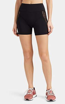 Kiki de Montparnasse Women's Lace-Mesh-Inset Bike Shorts - Black