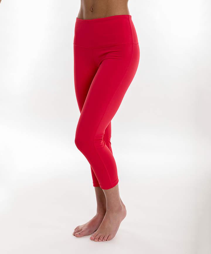 Pink Paradise Compression Activewear Capri Leggings - Women & Petite Plus
