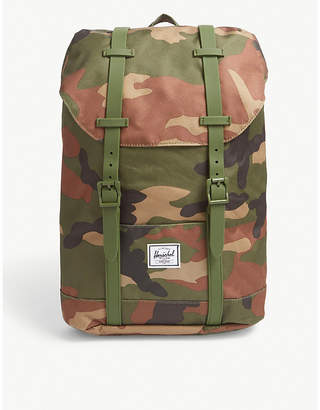 Herschel Youth Retreat camouflage canvas backpack