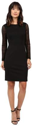 Adrianna Papell Long Sleeve Lace Detail Fit Dress Women's Dress