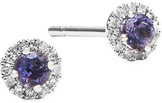 Meira T Women's Diamond, Crystal and 14K White Gold Stud Earrings