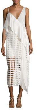 Diane von Furstenberg Asymmetrical Lace Wrap Dress $598 thestylecure.com