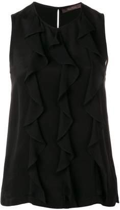Max Mara ruffle trim blouse