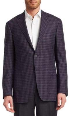 Canali Plaid Sport Jacket