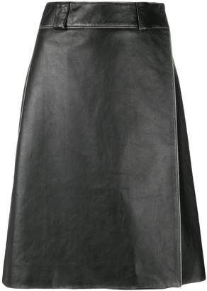 Prada calf leather skirt