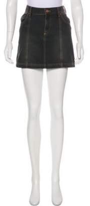 Isabel Marant Ãtoile Mini Denim Skirt Grey Ãtoile Mini Denim Skirt