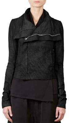 Rick Owens Leather Combo Biker Jacket