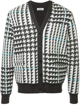 Coohem checked jacquard cardigan