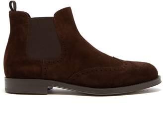 Giorgio Armani Suede chelsea boots