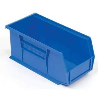 """Akro-Mils AkroBin Plastic Stacking Bin, 5-1/2""""W x 10-7/8""""D x 5""""H, Blue, Lot of 12"""