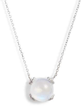Anzie Dew Drop Cluster Moonstone Pendant Necklace