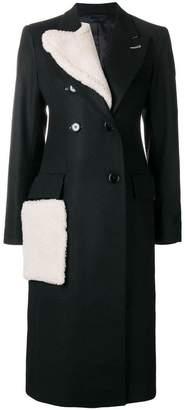 Eudon Choi shearling collar coat