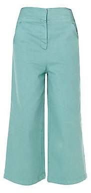 Tibi Women's Garment Dyed Demi-Crop Jeans - Size 0