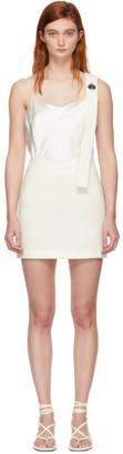 3.1 Phillip Lim White Single Strap Miniskirt