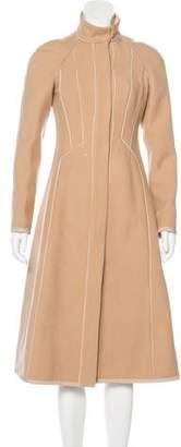 Narciso Rodriguez Mock-Collared Long Sleeve Coat