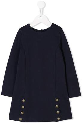 Chloé Kids button-embellished sweater dress