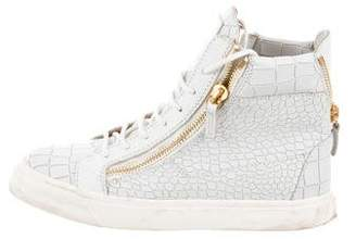 Giuseppe Zanotti London Embossed High-Top Sneakers