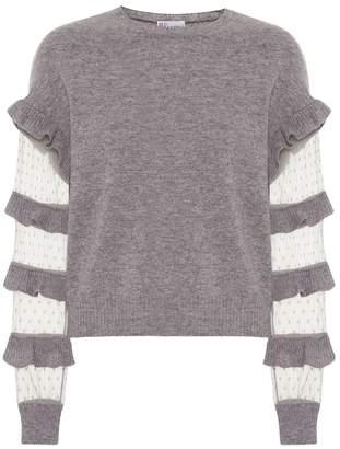 RED Valentino Ruffled virgin wool sweater