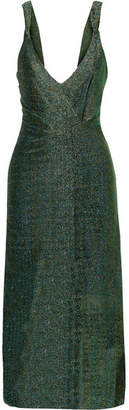 By Malene Birger Maryann Lurex Dress - Green