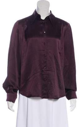 Max Mara Silk Long Sleeve Blouse
