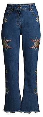 Etro Women's Floral Embroidered Bootcut Jeans